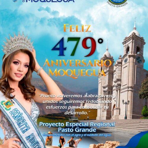 SALUDO INSTITUCIONAL POR EL ANIVERSARIO DE MOQUEGUA 2020